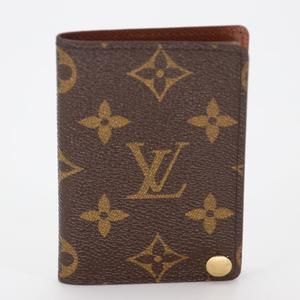 Monogram Canvas Business Card ID Holder Wallet